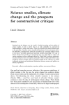Science studies, climate change and the prospects for constructivist