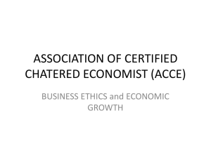 Business Ethics to Economic growth