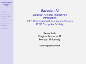 Bayesian AI Introduction - Australasian Bayesian Network Modelling
