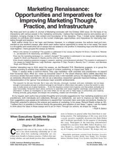 Marketing Renaissance - University of Southern California