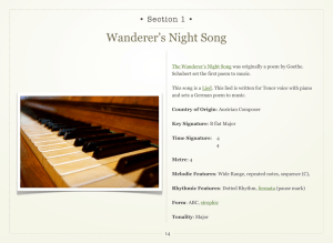 Wanderer`s Night Song