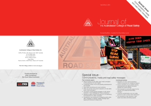 November 2011 Vol 22 No 4 Issue - Australasian College of Road