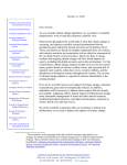 BSA`s 2009 Letter on Climate Change