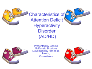 Characteristics of ADHD Powerpoint