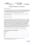 Export Compliance Statement