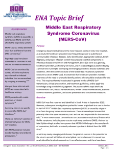 Coronavirus Strain (MERS-CoV) - Emergency Nurses Association