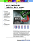 ADuM130x/ADuM140x Triple/Quad Digital Isolators
