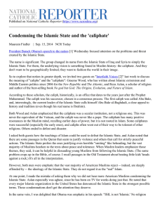 Condemning the Islamic State and the `caliphate`