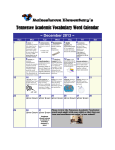 Tennessee Academic Vocabulary Word Calendar