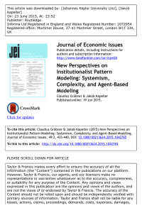 Journal of Economic Issues New Perspectives on Institutionalist