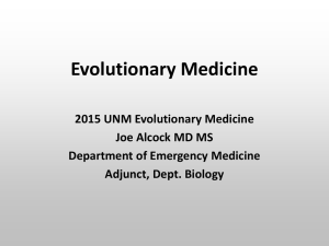 Introduction to Evolutionary Medicine 2015