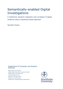 Semantically-enabled Digital Investigations