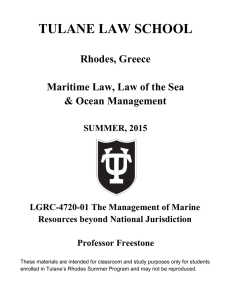 The Final Frontier: The Law of the Sea Convention and Areas