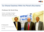 Our shared destinies within the planet`s boundaries - Prof