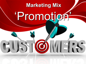 Marketing Mix - Promotion PP