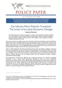 Can Ukraine Mimic Poland`s Transition? The Limits of Its Latest