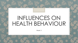 Influences on health behaviour