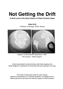 Not Getting the Drift - Personal webpages at NTNU