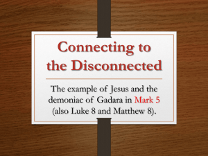 """Connecting to the Disconnected"" (Workshop"