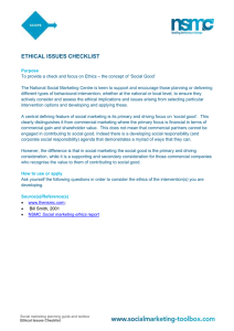 Ethical issues checklist - The National Social Marketing Centre