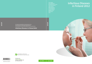 Infectious Diseases in Finland 2012