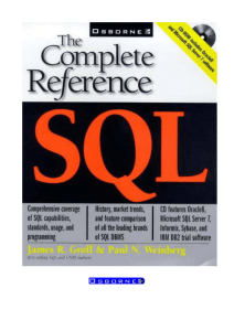 SQL The Complete Reference - Vedant College of Engineering