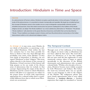 Introduction: Hinduism in Time and Space