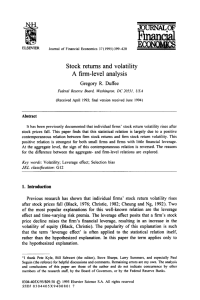 Stock returns and volatility A firm-level analysis