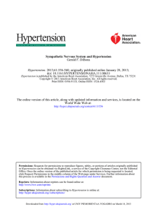 Gerald F. DiBona Sympathetic Nervous System and Hypertension