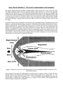 Space Physics Handout 2 : The Earth`s magnetosphere and