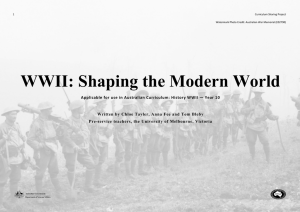 WWII: Shaping the Modern World