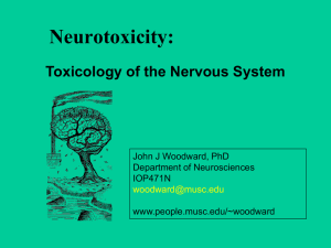 Toxicology of the Nervous System