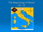 The Beginnings of Rome Ch. 13