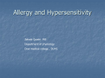 Type III Hypersensitivity - Dow University of Health Sciences