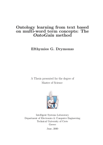 Ontology learning from text based on multi