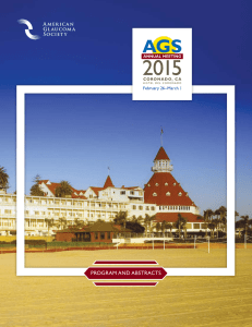program and abstracts - American Glaucoma Society