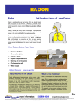 For more information: Radon 2nd Leading Cause of Lung Cancer