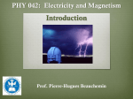 Introduction to electromagnetism - Pierre