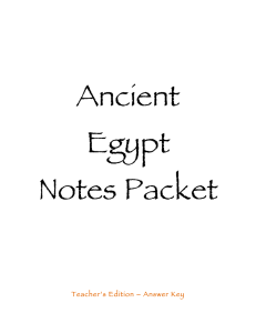 Guided Notes Answer Key - Awesome Ancient Egyptians