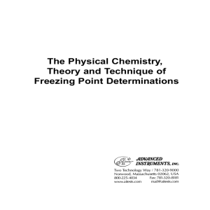 The Physical Chemistry, Theory and Technique of