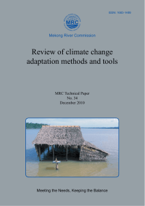 Review of climate change adaptation methods and tools