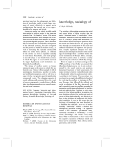 knowledge, sociology of