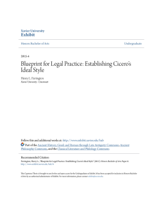 Blueprint for Legal Practice: Establishing Cicero`s Ideal Style