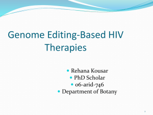 Genome Editing-Based HIV Therapies