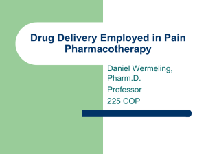 Drug Delivery Employed in Pain Pharmacotherapy