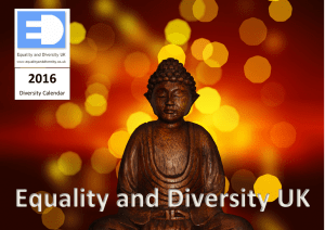 Equality and Diversity Calendar, 2016