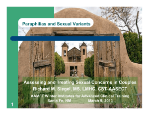 Paraphilias and Sexual Variants