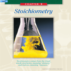 CHAPTER 9 Stoichiometry - Modern Chemistry Textbook