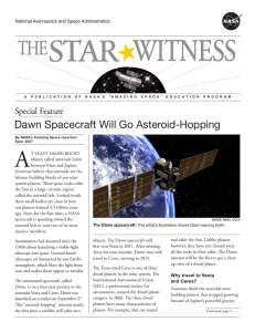 Dawn Spacecraft Will Go Asteroid