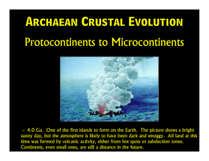 Archaean Crustal Evolution Protocontinents to Microcontinents